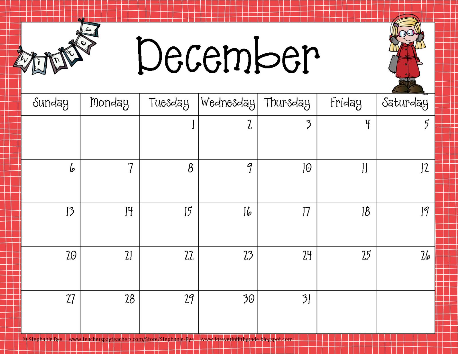 Year Calendar Clipart : Fifth grade freebies school year calendar freebie