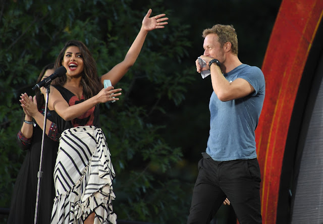 Priyanka Chopra,Chris martin at Global Citizen Festival