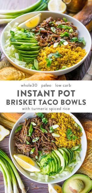 Instant Pot Brisket Taco Bowls