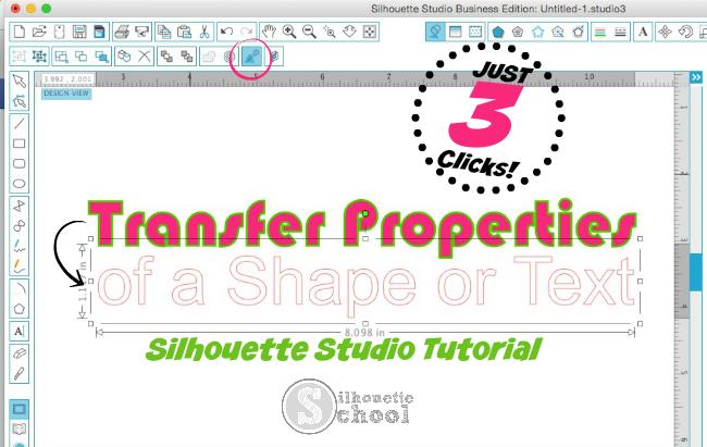 Silhouette Studio transfer properties tool, Silhouette Cameo, Silhouette Studio