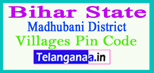 Madhubani District Pin Codes in Bihar State