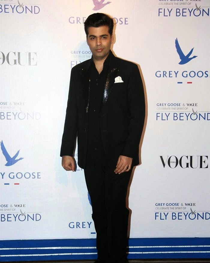 Karan Johar, Pics from Red Carpet of Grey Goose & Vogue's Fly Beyond Awards 2014