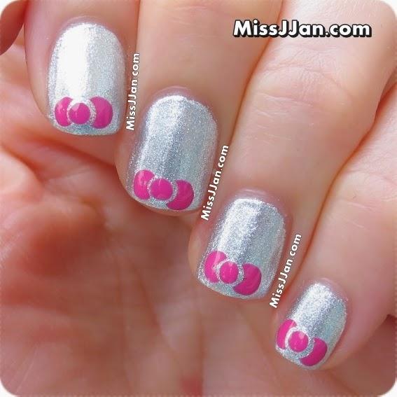 Super MissJJan's Beauty Blog ♥: {Tutorial} Very Easy Bow Nail Art  YE99