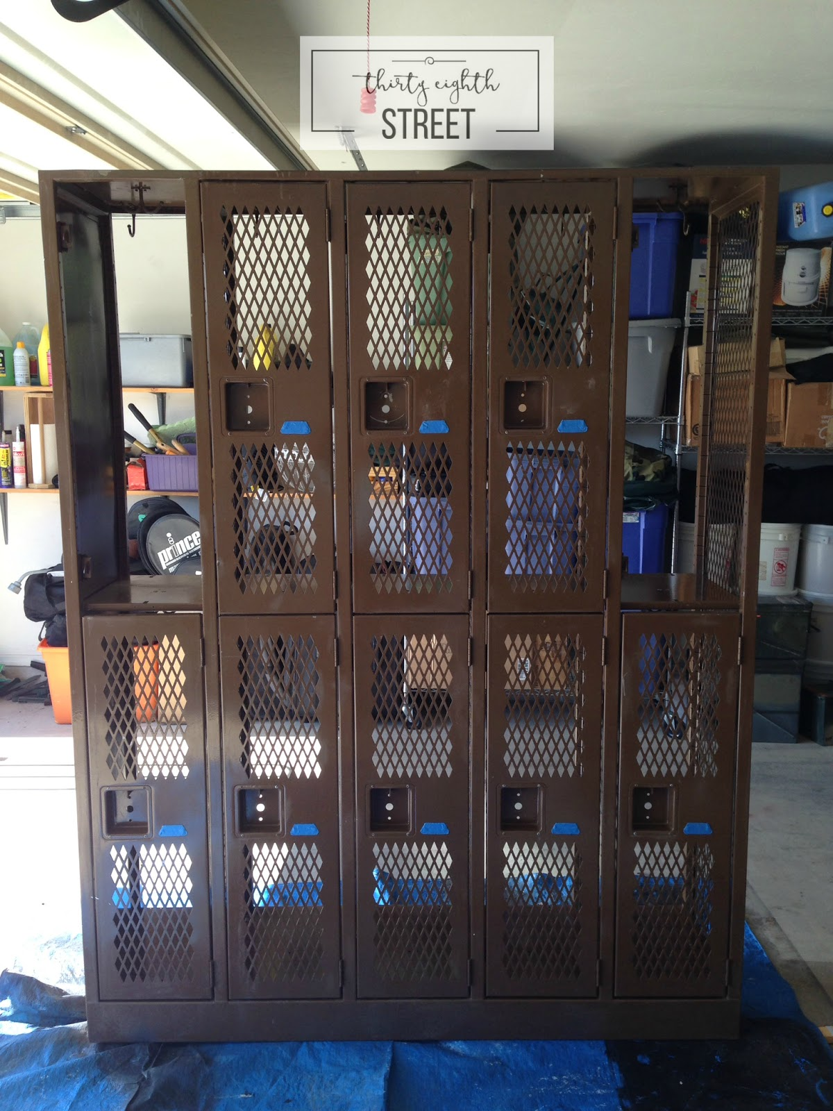 Industrial Locker Makeover - Thirty Eighth Street
