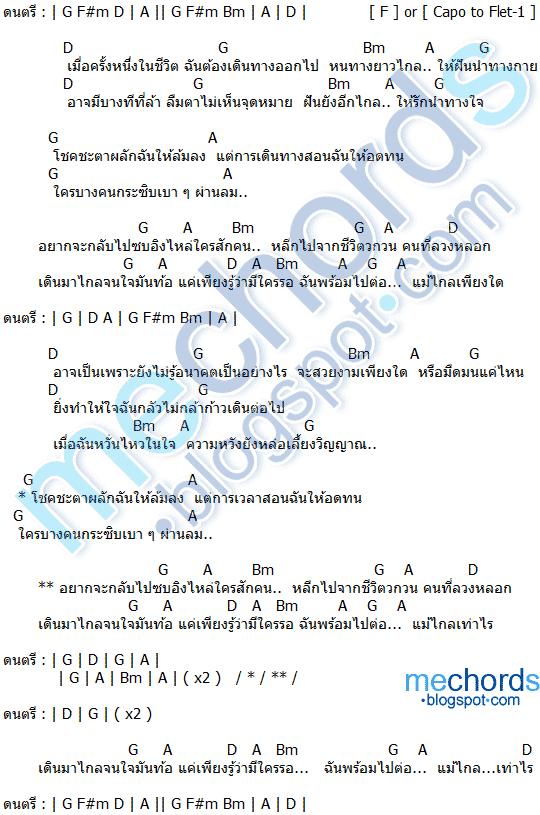 คอร์ดเพลง กาลเวลาพิสูจน์คน Cocktail (ค็อกเทล) feat.ไมค์ ภิรมย์พร