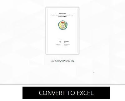 Merubah File PDF Ke File Microsoft Excel