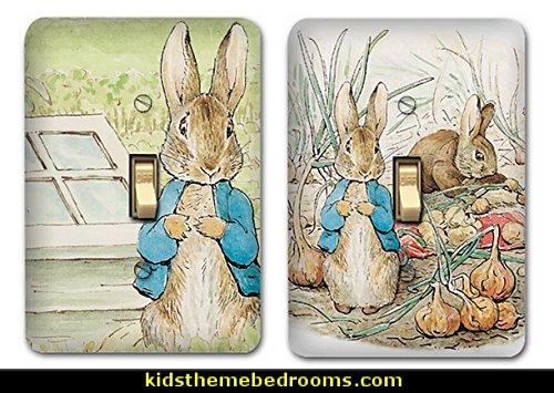 Peter Rabbit Metal Light Switch Plate Cover Bunny Nursery Home Decor