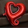 Balon Foil Hati Lubang / Foil Love Lubang