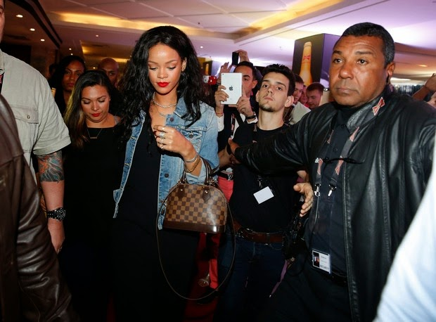 Rihanna in Copacabana, in the South Zone of Rio