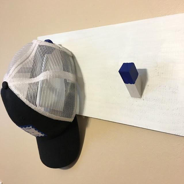 Make this easy hat rack using scrap wood!
