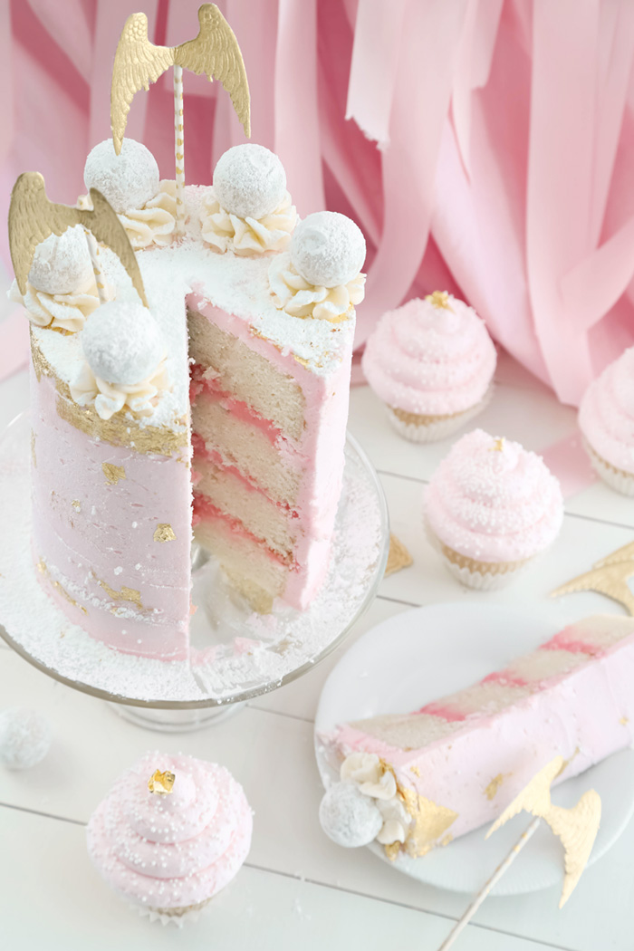 Pink Champagne Layer Cake