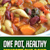 One Pot Healthy Minestrone Soup