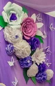 paper flowers making