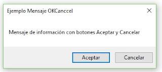 MessageBox de con Botón de Aceptar y Cancelar (OKCancel)