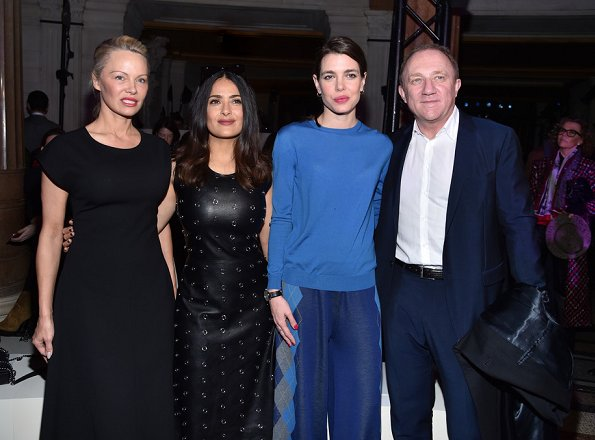 Natalia Vodianova, Marie Agnes Gillot,Pamela Anderson,Salma ayek,Charlotte Casiraghi and Francois-Henri Pinault attend the Stella McCartney show