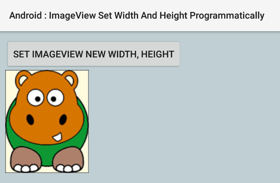 How to set ImageView width and height programmatically in Android