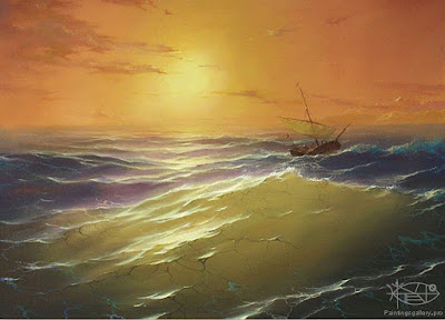 cuadro-del-mar-embravecido-con-barco-a-punto-de-naufragar-dmitriew george