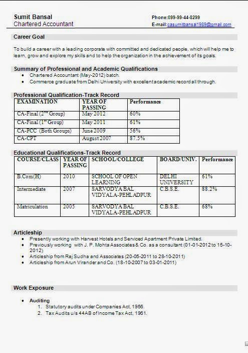 Download Resume Format Resume Example