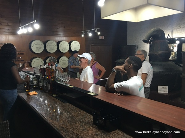 tasting bar at Mount Gay Rum Visitor Experience on Barbados