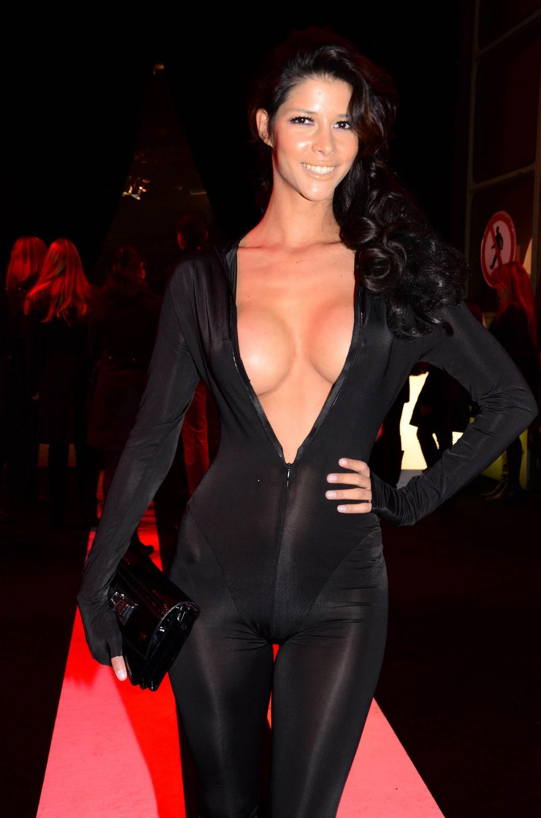 Micaela Schaefer Nipple Slip And Exposing Full Cleavage In