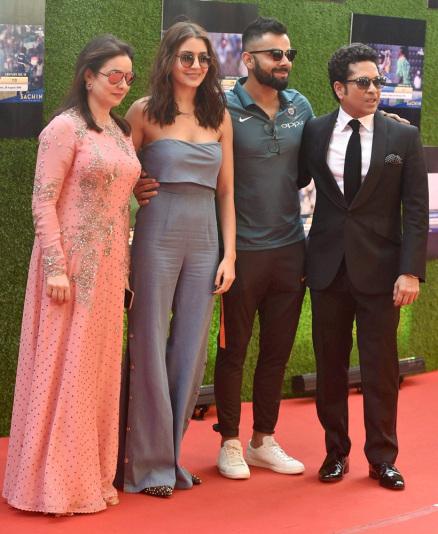 Virat Kohli, Anushka Sharma steal the show at 'Sachin- A Billion