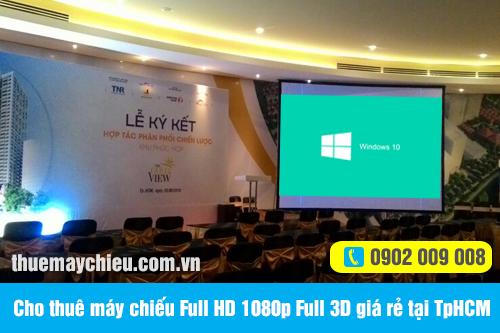 Cho thuê máy chiếu Full HD 1080p Full 3D giá rẻ tại TpHCM
