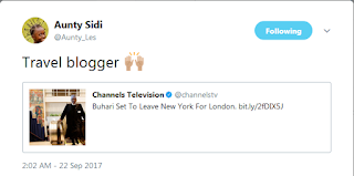 Lol, Twitter user calls Buhari a Travel Blogger