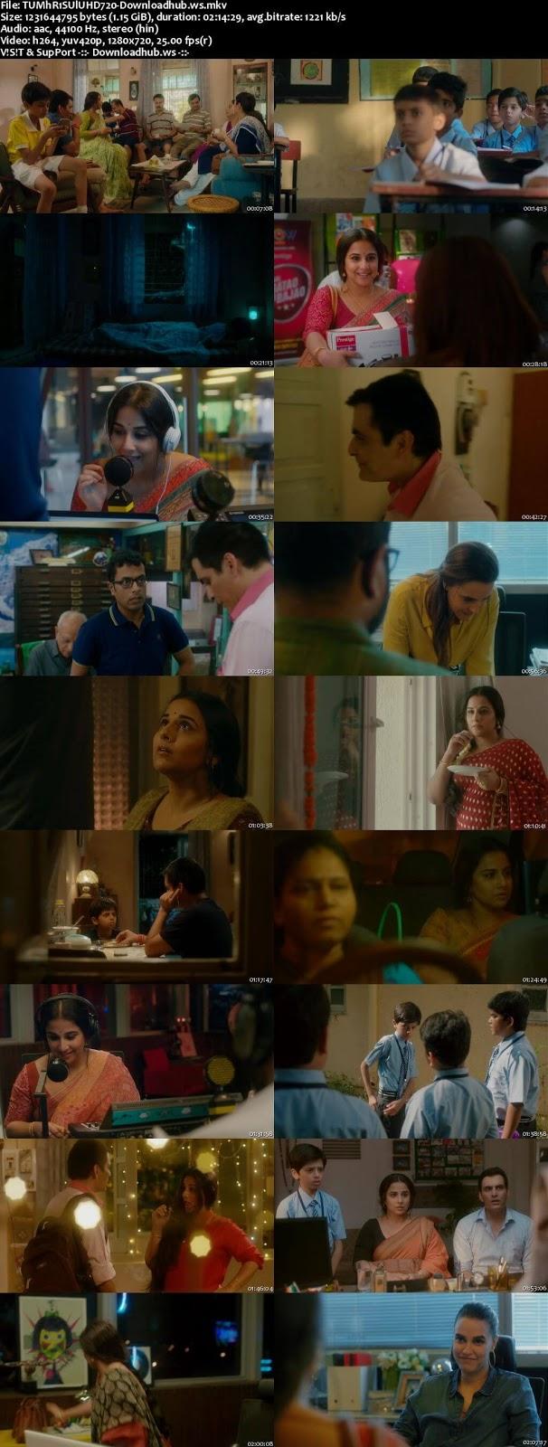 Tumhari Sulu 2017 Hindi 720p HDRip ESubs