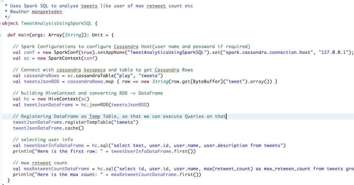 Data Analytics using Spark SQL | Effective Programming(Samples)