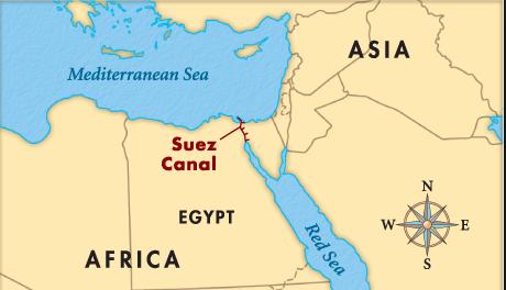 canal suez mapa Canal de Suez ~ Aprenda historia de la humanidad canal suez mapa