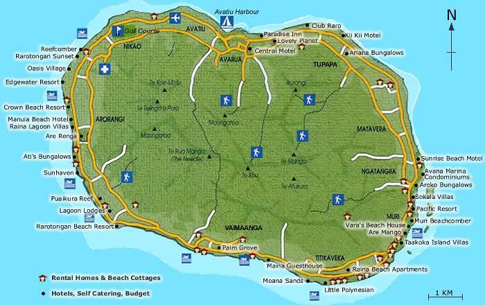 Mapas das Ilhas Cook | Nova Zelândia