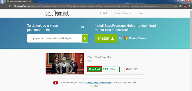 Halaman Untuk download Video Youtube