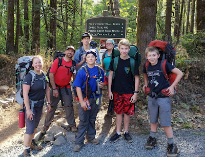 Scouts Backpacking 30 miles of the PCT
