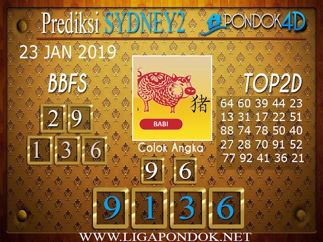 Prediksi Togel SYDNEY2 PONDOK4D 23 JANUARI 2019