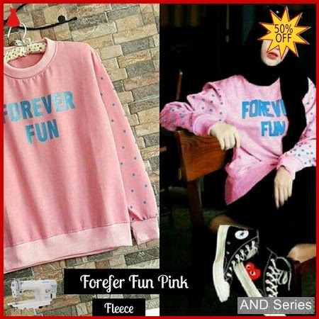 AND054 Sweater Wanita Forever Fun Sweatwr Jaket BMGShop