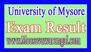 University of Mysore PG Diploma in Infrastructure Business IInd Sem Exam Results