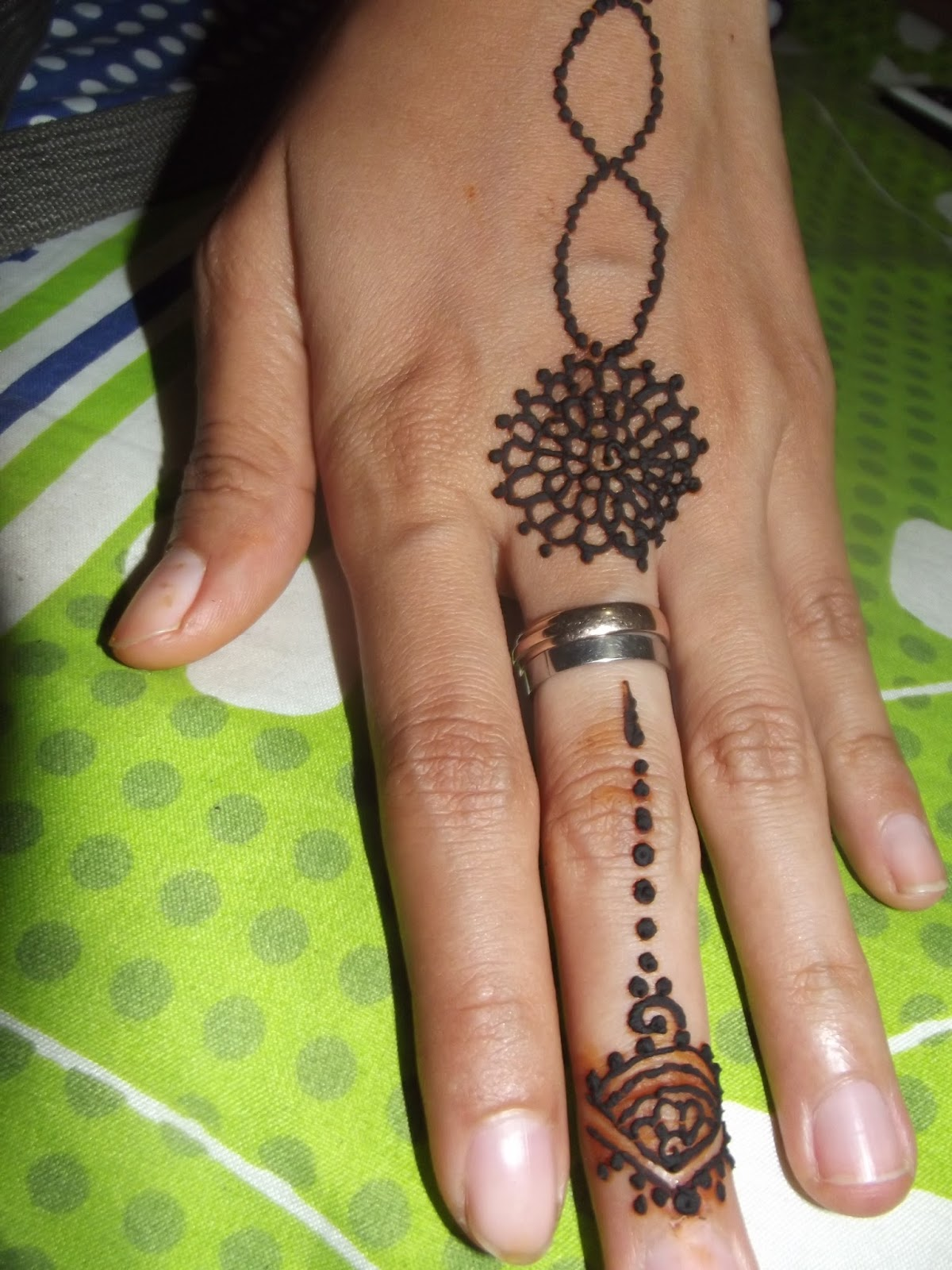 Indah Henna Design Henna On My Hand
