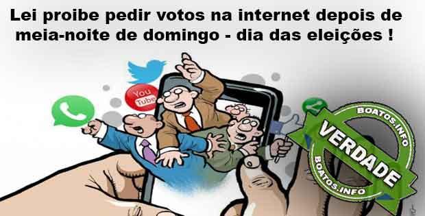 Pedir votos na internet a partir de meia-noite de domingo é crime