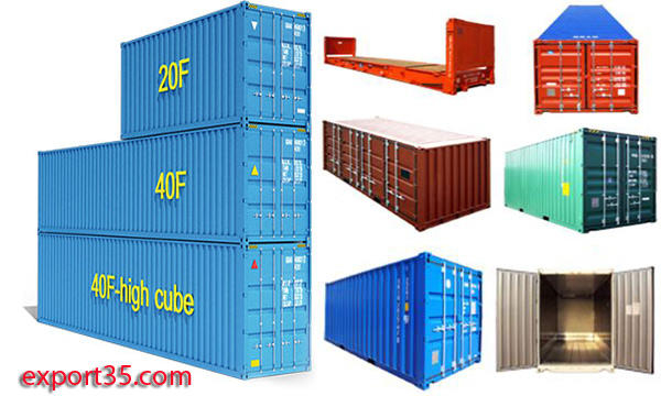CONTAINER TYPES SIZE AND DIMENTIONS | export import database