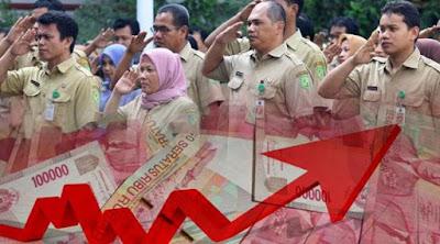 Image result for gaji pns naik 2 kali lipat