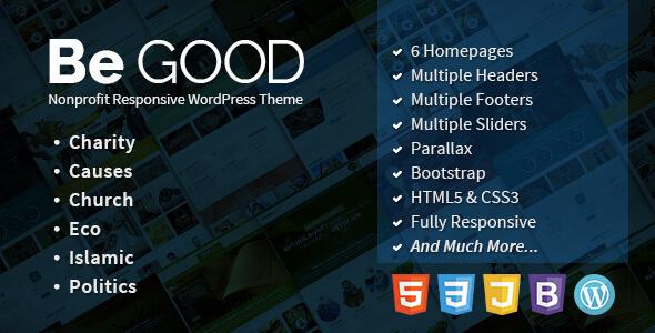 Download Be Good v1 2 0 – Nonprofit Multi-purpose WordPress
