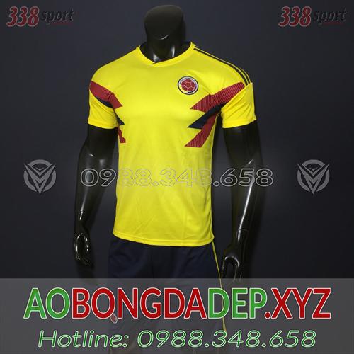 Áo Colombia 2019 Sân Nhà Màu Vàng Đẹp