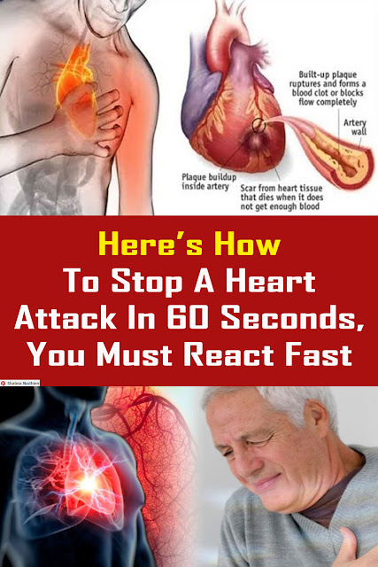 Here's How To Stop A Heart Attack In 60 Seconds, You Must React Fast #Health #Medical