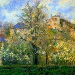 'Horta i arbres en Flor, Primavera, Pontoise (Camille Pissarro)'
