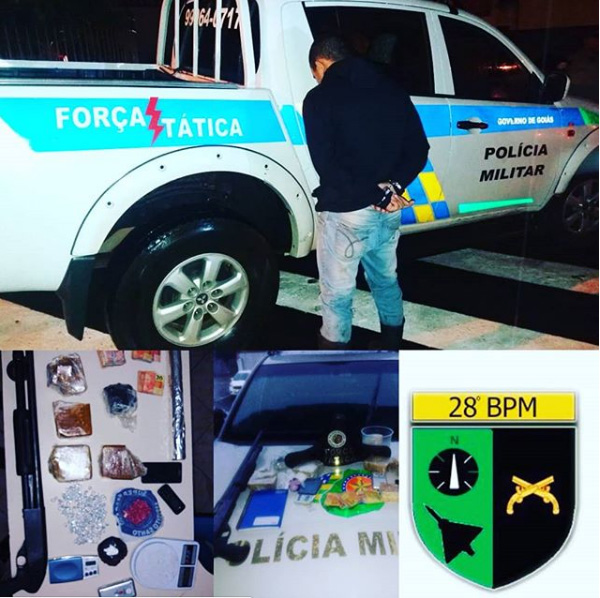 Anápolis: Suspeito é preso por tráfico e posse ilegal de arma de fogo