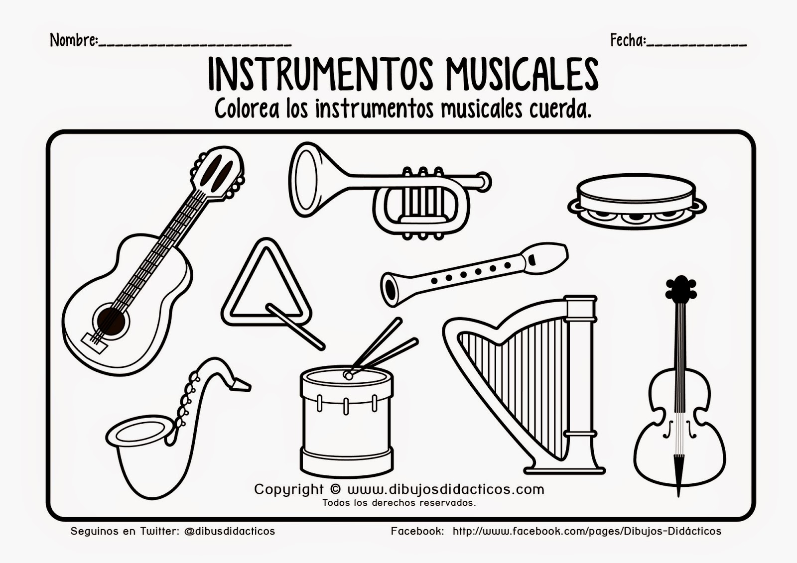 Instumentos Musicales Para Colorear Best 25 Dibujos De