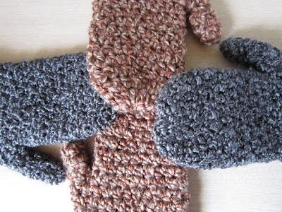 mittens, crochet, gauge, free pattern,