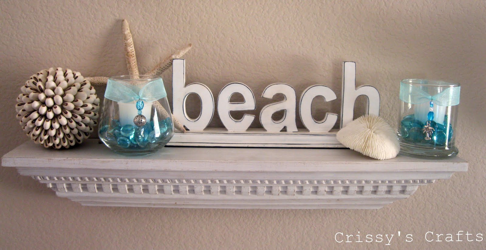 Beach Bathroom Decor: Crissy's Crafts: Beach Mantel