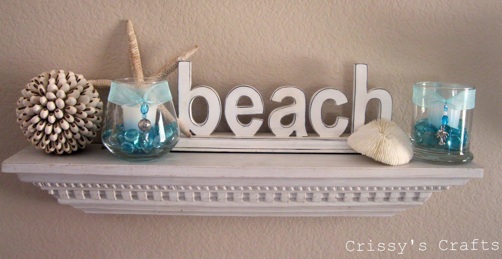 Crissy's Crafts: Beach Mantel