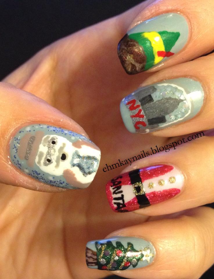 Ehmkay Nails New Year S Eve Nail Art With Kbshimmer Bling: Ehmkay Nails: Elf The Movie Nail Art